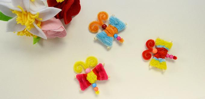 Easy Pandahall Tutorial - How to Make Colored Chenille Stem Dragonfly Crafts for Kids