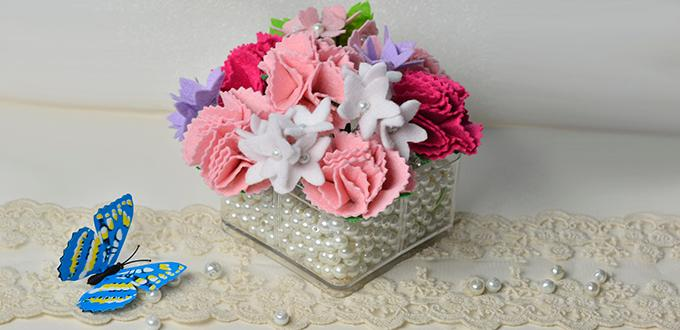 how to make material flowers for bouquets