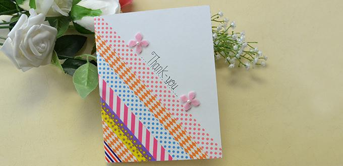 How To Make An Easy Scrapbook Tape Thank You Card For Mother S Day