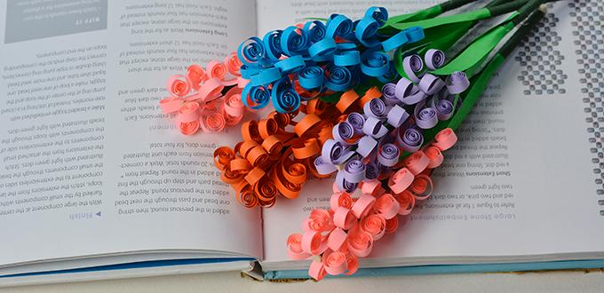 How to Make a Handmade Quilling Paper Flower Bouquet for Mother's Day