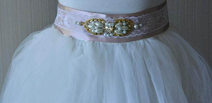 How To Make A Fashion Ribbon Waist Belt With Pearl Beads For S