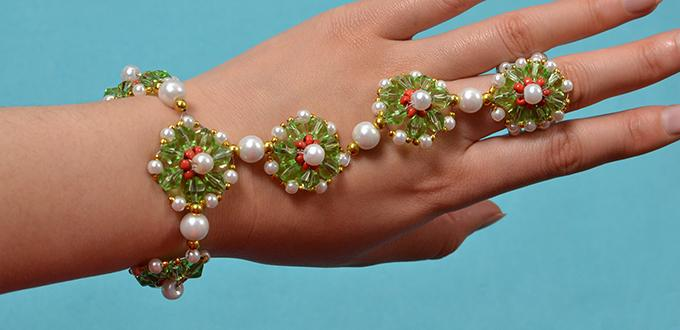 How To Make Delicate Beading Bracelet With Glass Beads And