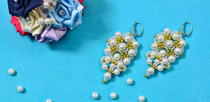 Instructions on How to Make Chic Pearl Beads Earrings for Girls
