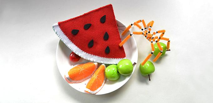 Home Decor Idea--How to Make Easy Felt Fruits for Beginners