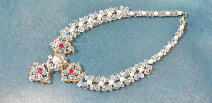 How to make delicate beading pendant necklace with pearl and glass how to make delicate beading pendant necklace with pearl and glass beads aloadofball Images