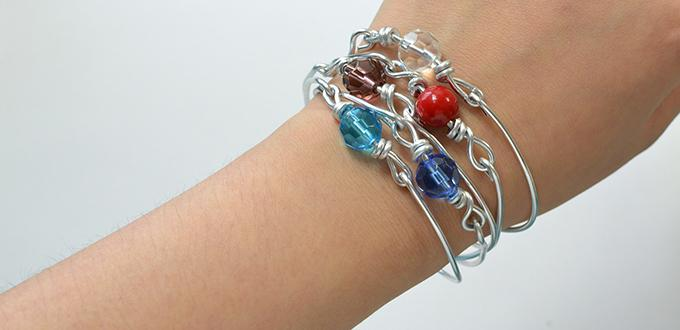 Easy Tutorial On How To Make A Multiple Strand Wire Wred Bracelet
