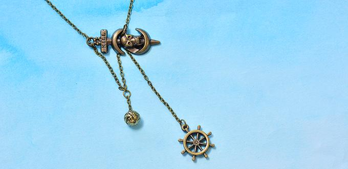 How to Make an Easy Handmade Vintage Antique Bronze Necklace for Men