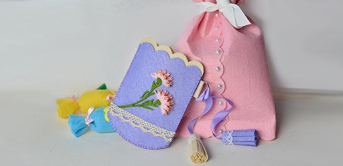 How to Make a Handmade Purple Felt Purse or Coin Bag at Home