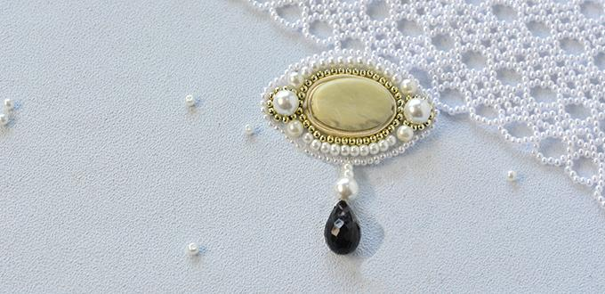 Pandahall Original Project--How to Make Delicate Pearl Embroidery Brooch for Women