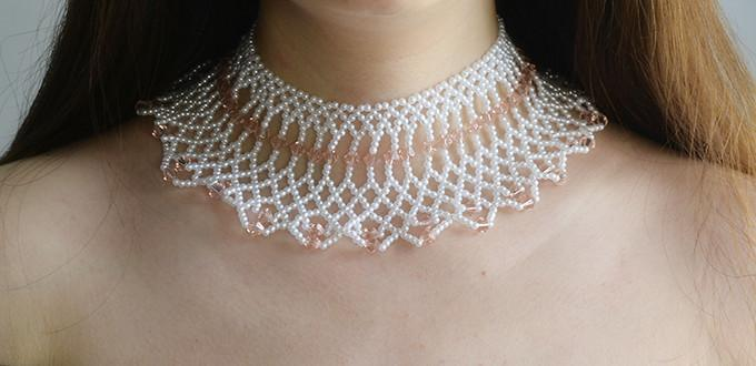 How To Make A Charming Pearl And Glass Bead Weaving Choker