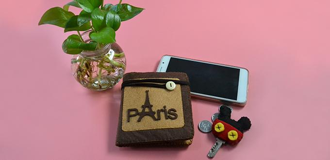 Instructions on How to Make Felt Eiffel Tower Purse for Women