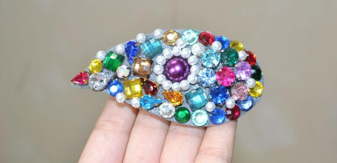 Easy Pandahall Tutorial on How to Make a DIY Bead Hair Barrette