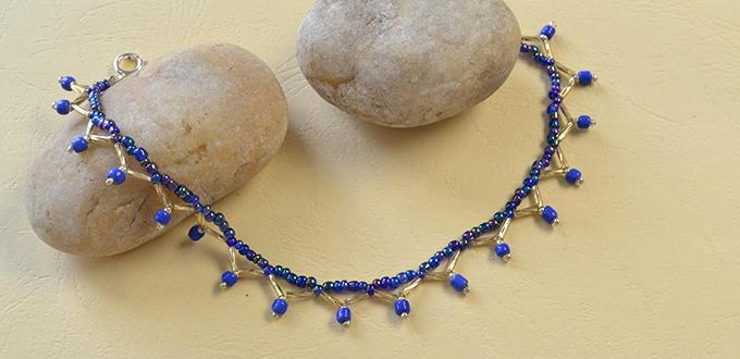 Pandahall Summer Jewelry - How to Make a Homemade Blue Seed Beaded Anklet