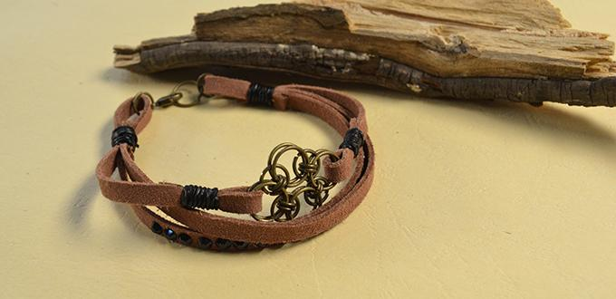 Pandahall Original DIY Project - How to Make an Easy Chocolate Suede Cord Bracelet for Men