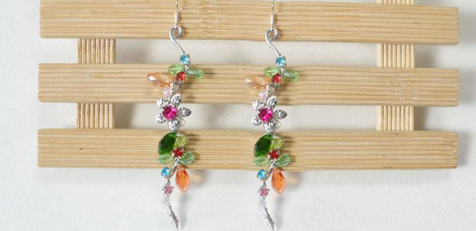 How to Make a Pair of Easy Wire Wrapped and Bead Earrings