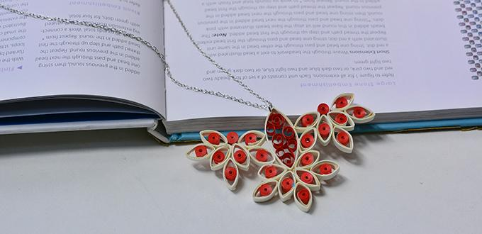 Pandahall Video Tutorial - How to Make a Quilling Paper Bird Pendant Necklace