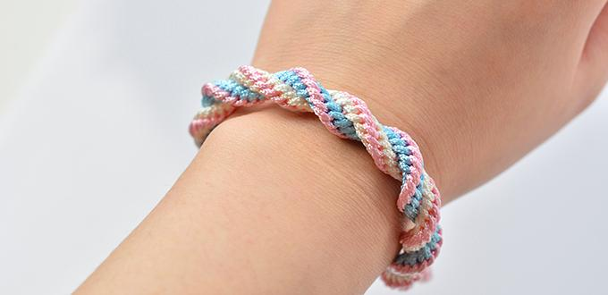 Pandahall Tutorial on How to Make Easy Kumihimo Bracelet with Nylon Thread