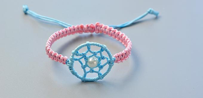 How To Make Simple Friendship Bracelet Decorated With Dream Catcher Amazing Dream Catchers For Girls