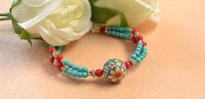 Pandahall Free Tutorial - How to Make a Charming Multi-strand Beaded Ethnic Bracelet