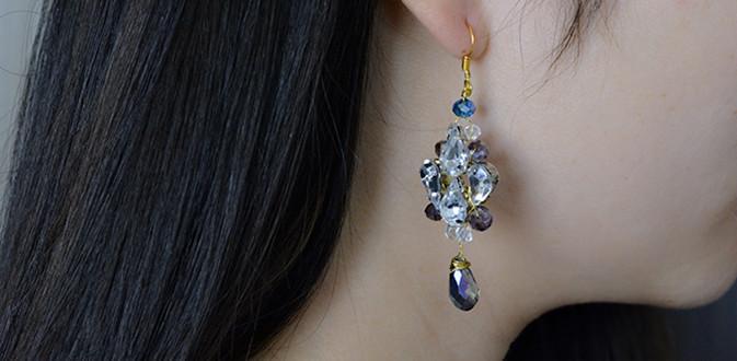Easy Pandahall Tutorial - How to Make a Pair of Acrylic Bead Drop Earrings