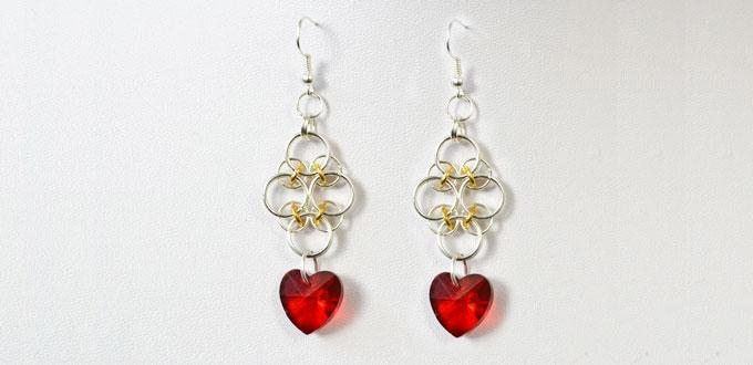 Pandahall Tutorial on How to Make Red Heart Pendant Earrings for Beginners