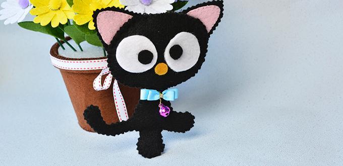 Easy Felt Craft How To Make Cute Felt Cat For Kids Pandahall Com