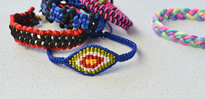 How to Make Ethnic Braided Friendship Bracelet with Nylon Thread