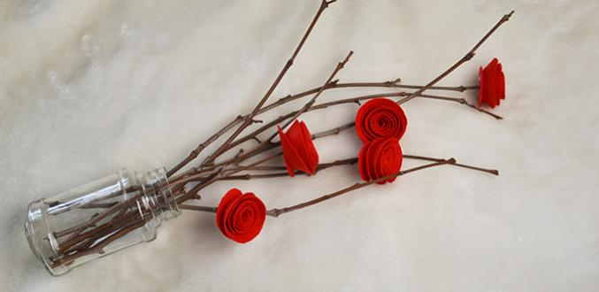 Pandahall Video Tutorial - How to Make Easy DIY Red Felt Roses for Home Decoration