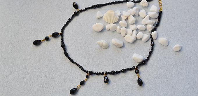 How to Make a Gothic Style Black Bead Choker Necklace for Halloween