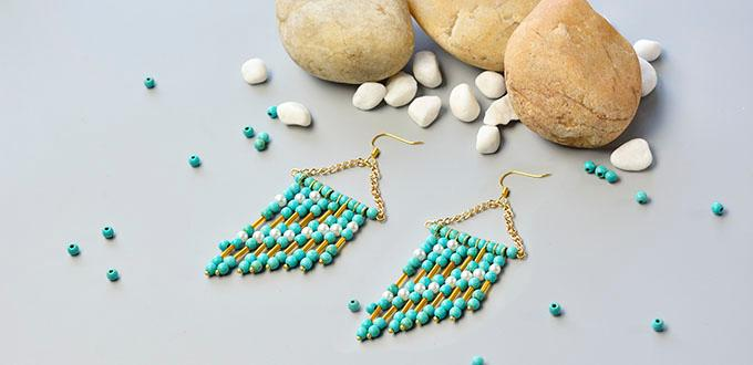 Pandahall Video Tutorial on How to Make Stylish Turquoise Bead Chandelier Earrings