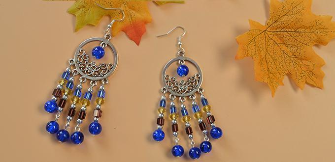 Pandahall Tutorial on How to Make Tibetan Style Drop Chandelier Earrings with Beaded Tassel Dangles