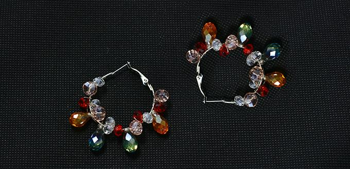 Pandahall Diy Jewelry How To Make A Pair Of Large Crystal Beaded Hoop Earrings With