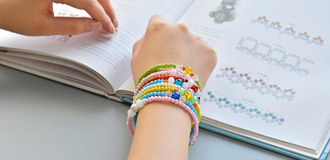 Easy Pandahall Tutorial - How to Make Multiple Seed Bead Bracelets in an Easy Way