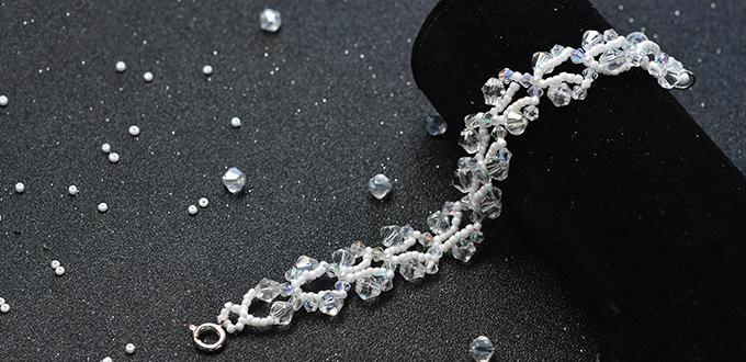 Pandahall Tutorial on How to Make Crystal Glass Bead and Seed Bead Bracelets