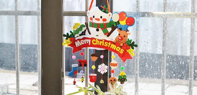 Pandahall Christmas DIY - How to Make Felt Hanging Decorations for Christmas