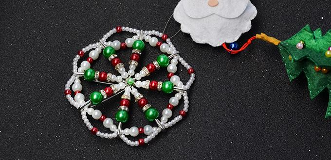 Pandahall Christmas Decoration- How to Make Pearl Beads Christmas Hanging Ornament