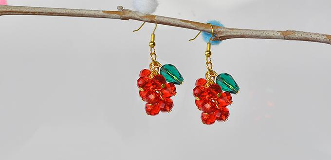 PandaHall Tutorial on How to Make Beaded Christmas Earrings in a Simple Way