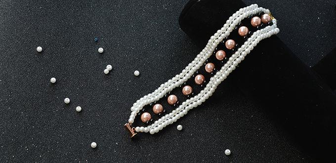 How to Make Chic and Elegant Multi-strand Beaded Pearl Bracelet