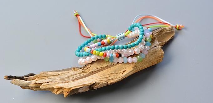 Easy Pandahall Tutorial - How to Make a Colorful Multi-strand Bracelet