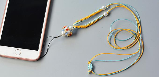 Pandahall Original DIY Project - How to Make Fresh Mobile Chain with Beads and Threads