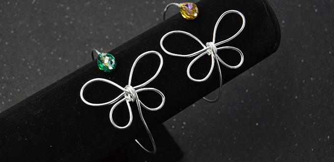 Pandahall Original DIY Project - How to Make a Silver Wire Wrapped Butterfly Bangle Bracelet