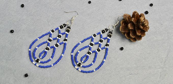Pandahall Diy Project How To Make Blue Drop Seed Beaded