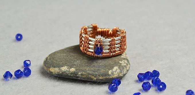 PandaHall Original DIY Project – How to Make a Glass Beaded Wire Wrapped Ring