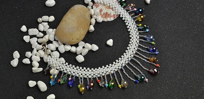 Fun Craft Idea - DIY Beaded Tassel Rainbow Colored Necklace