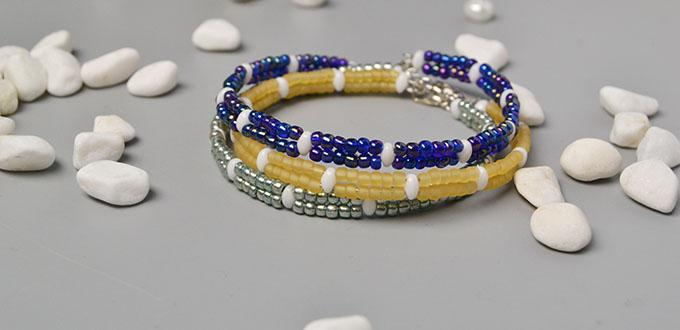 How To Make A Seed Bead Wrap Bracelet In Two Simple Steps
