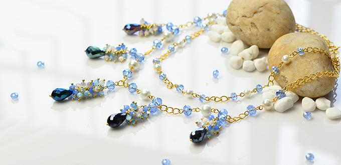 How to Make Pretty Handmade Glass Beads Chain Necklace