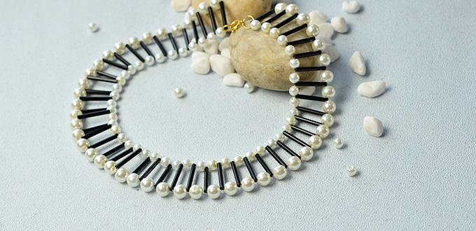 Pandahall Original DIY Project – How to Make a Pearl Bead Necklace with Bugle Beads