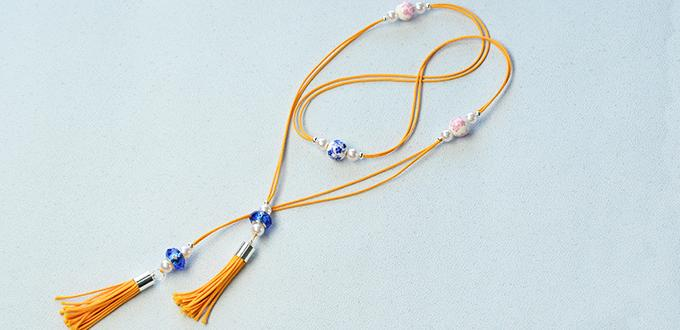 How to Make a Stylish Choker Necklace with Wax Cord and Large Hole Beads