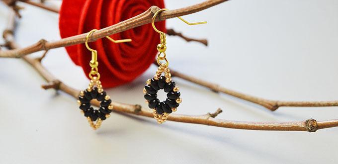 Tutorial on Making Easy 2-Hole Seed Bead Dangle Earrings