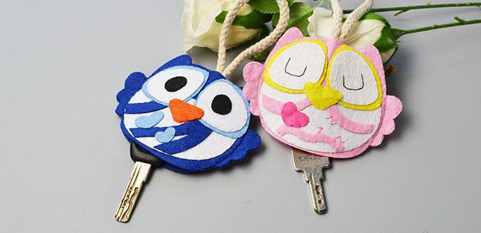 Cute Felt Craft - Owl Key Covers for Boys and Girls